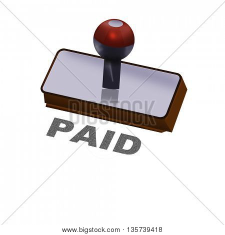 an paid rubber stamp