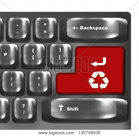 Recycle symbol button on keyboard