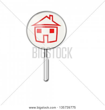 magnifying glass icon-Search new house