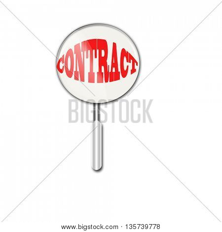 contract under magnifying glass