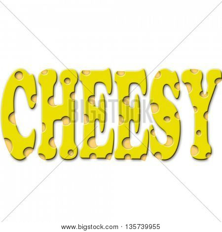 word cheesy made of chees