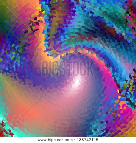 Abstract coloring background of the horizon mosaic gradient with visual plastic wrap,twirl,crystallize and wave effect