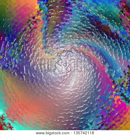 Abstract coloring background of the horizon gradient with visual plastic wrap,twirl,crystallize and wave effects,good for your idea design