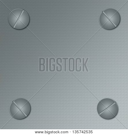 pattern of metal background with screw