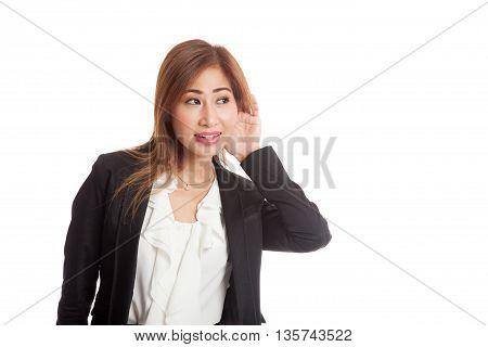 Beautiful Young Asian Woman Listen To Something