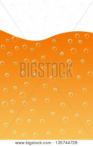 Close up of beer bubbles