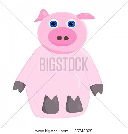 a cute pink  pig