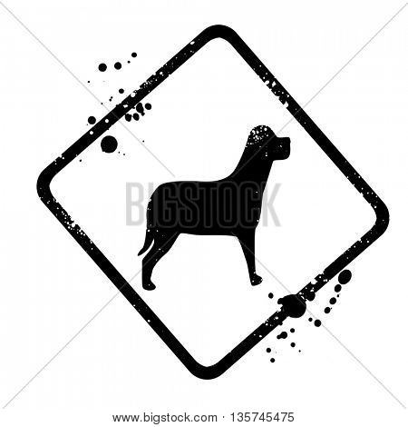 silhouette of the dog sign