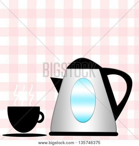 household appliances icons - coffee cup and pitcher icons