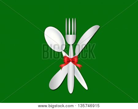 cutlery contemporary pattern- menu- knife,fork and spoon