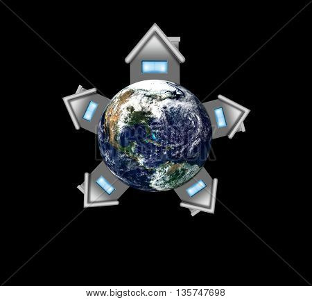 Earth Day Concept Green Eco Earth Elements of this image furnished by NASA