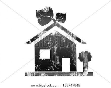 grunge house icon