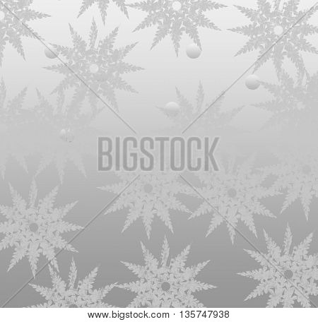 winter background with beautiful various snowflakes