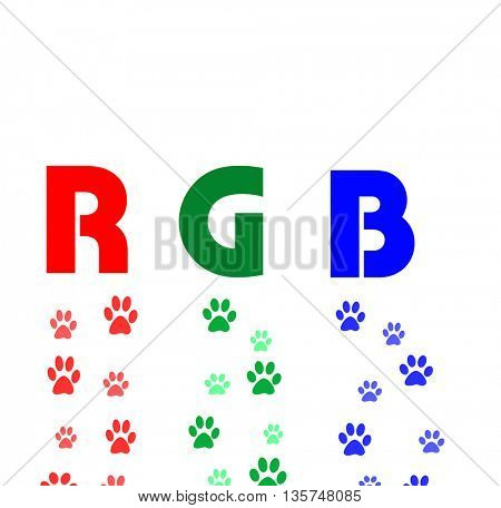 rgb color paws