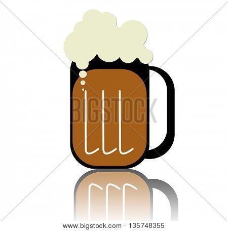 Beer Mug WITH REFLECTION