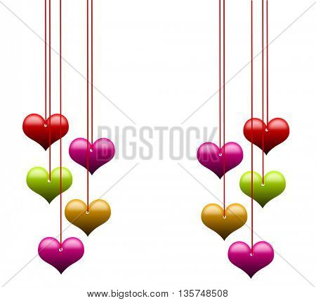 Love background with hearts and place for text