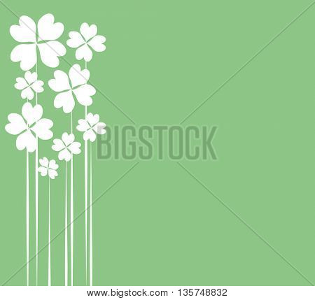 Patrick Day With Clower Grunge Greetings