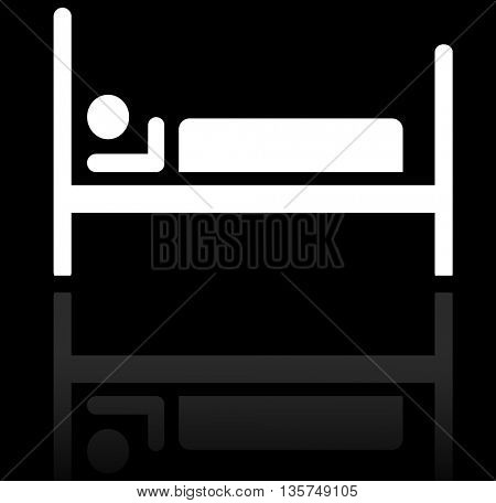 silhouette of person in bed