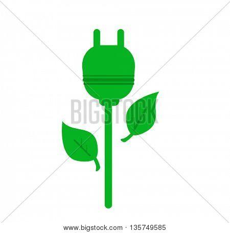 ecology-green socket flower,green ecological electricity