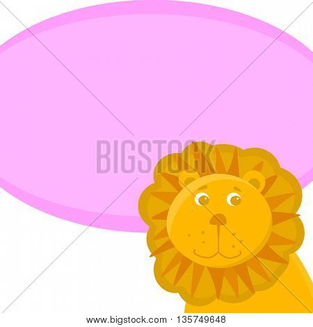 illustration of Lion cartoon