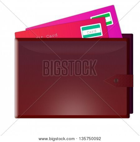 illustration of wallet with credit cards in it