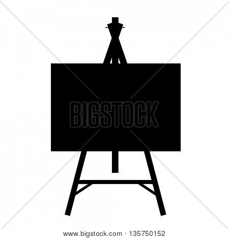 black isolated contour easels silhouettes