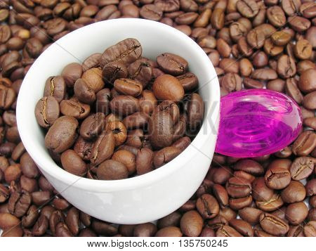 spited coffee beens