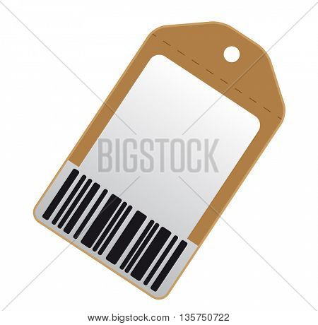 Blank price tag with bar code