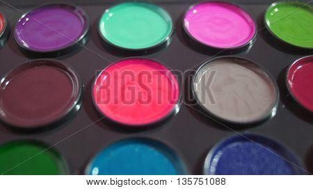 close up of colors paint