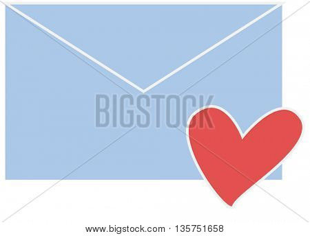 Icon Envelope and Hearts, concept Love, Valentine's Day