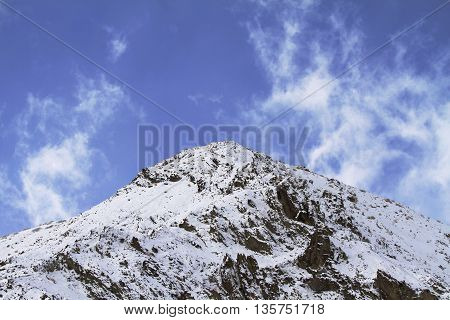 Himalayan mountains in Ladakh, India. Hemis High Altitude National Park.