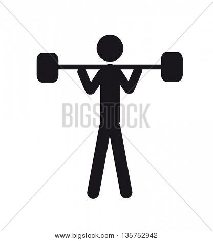 sports icons - weightlifting icon