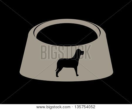 Empty  pet dog food bowl dish
