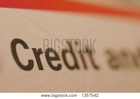 "Close Up Of Word ""Credit""  - Shallow Depth Of Field"