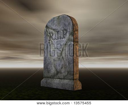 Uma renderização de um túmulo