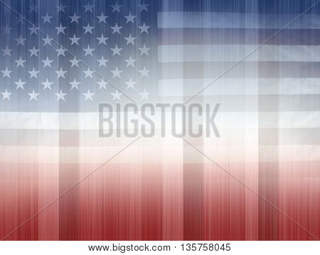 USA flag, red white and blue background