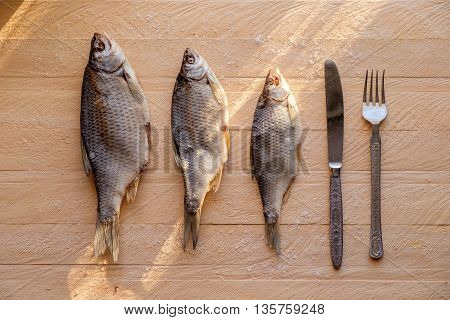 Dried Fish Fork And Knife