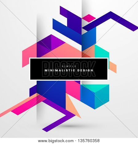 Geometric Vector Background. Triangles Pattern for Business Presentations, Application Cover and Web Site Design.