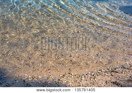 clear water in the lake over the texture