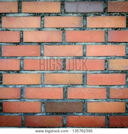 Old and vintage red bricks wall texture background.