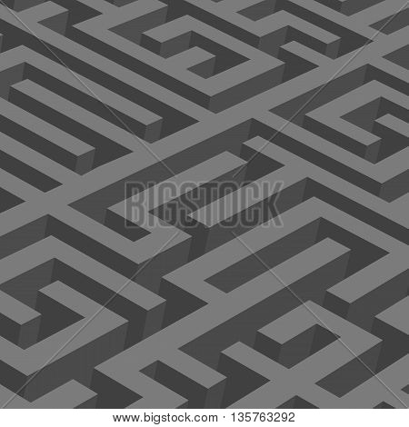 Abstract background - the black maze.Abstract illustration.