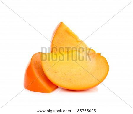 Slice Of Persimmon Isolated