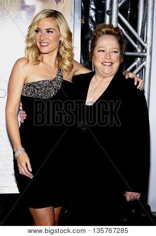 Kate Winslet and Kathy Bates at the World premiere of 'Revolutionary Road' held at the Mann Village Theater in Westwood, USA on August 15, 2008.