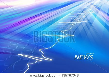 Medical Abstract News Background; Abstract Background Suitable for Healthcare and Medical News Topic 3d illustration