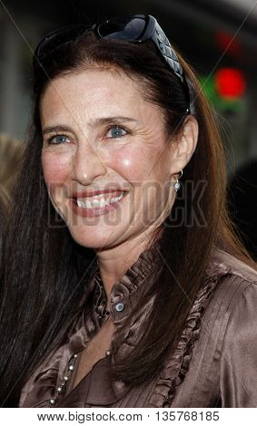 Mimi Rogers at the World premiere of 'Jonas Brothers: The 3D Concert Experience' held at the El Capitan Theater in Hollywood, USA on February 24, 2009.