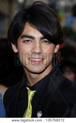 Joe Jonas at the World premiere of 'Jonas Brothers: The 3D Concert Experience' held at the El Capitan Theater in Hollywood, USA on February 24, 2009.