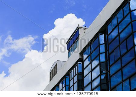 office buildings and  blue sky background perspective