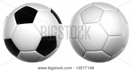 High Resolution 3D Soccer Balls Isolated