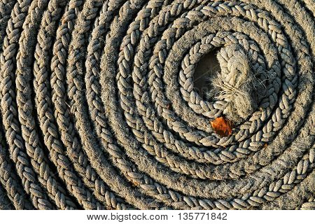 Abstract close up grunge rope background texture.