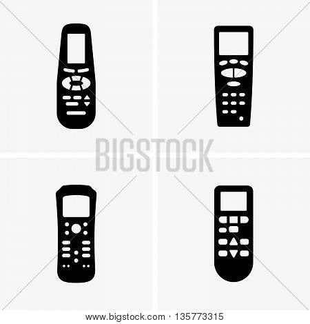 Set of four units remote control ( shade pictures )
